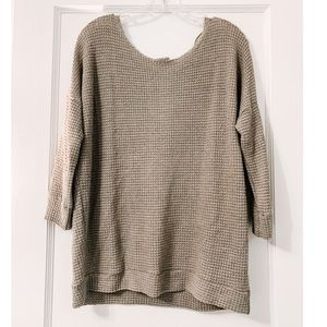 Knit Button-Up Back Sweater